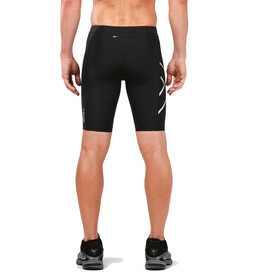 2XU Run Compression Miehet Juoksushortsit with Back Pocket , musta/hopea